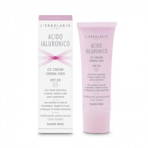 Acido Ialuronico CC Cream - tonalità miele SPF 20 - 50 ml - Acido Ialuronico - L'Erbolario
