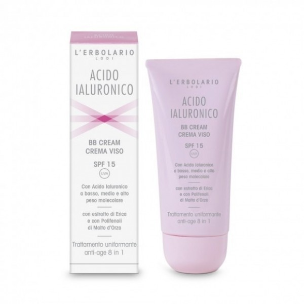 BB Cream Crema Viso - SPF 15 - 50 ml - Acido Ialuronico - L'Erbolario