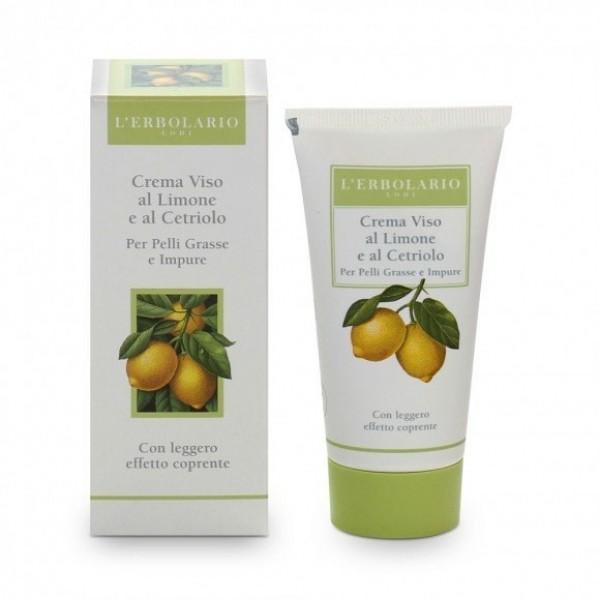 Crema Viso al Limone e Cetriolo - 50 ml - Pelle Giovane - L'Erbolario