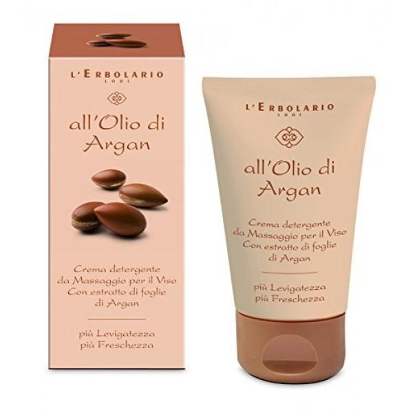 Olio Argan Crema Detergente Massaggio Viso – 125 ml - L'Erbolario