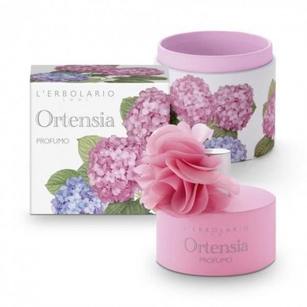 Profumo edizione limitata con fiore e scatola in tessuto - 100 ml - Ortensia - L'Erbolario